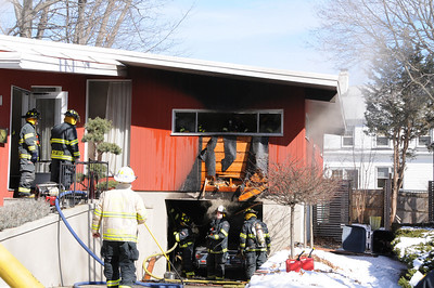 This fire occured in the garage-under of the house.