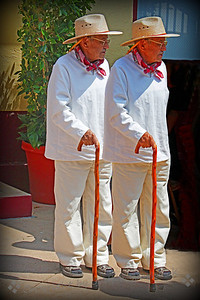 Virtual Twins ~ Double the fun...playing on the computer with this image from Olvera Street.