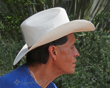 White Cowboy Hat ~ Must be the good guy--I liked his profile.