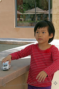 Child at the Cathedral ~ This was one of two children playing in an outside pation at the cathedral.