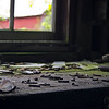 Workbench in the abandoned mill, Balaclava, ON