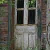 Door of abandoned house, Balaclava, ON
