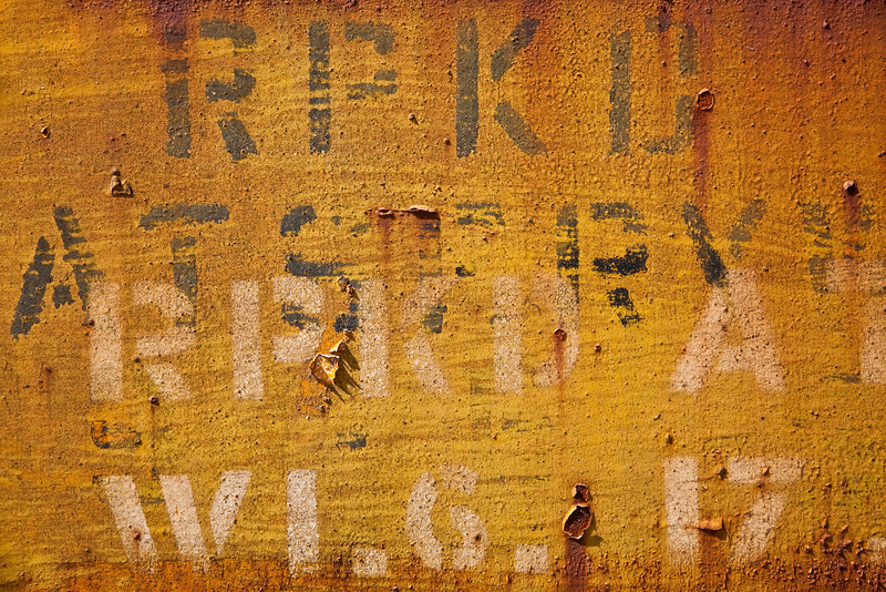 """Stenciled Letters - Boxcar Series<br />  <a href=""""http://en.wikipedia.org/wiki/Super_Chief"""">http://en.wikipedia.org/wiki/Super_Chief</a>"""