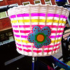 Cheerful bike basket