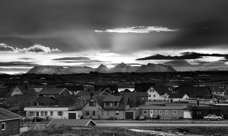 Dawn breaks over Andenes an early November morning.