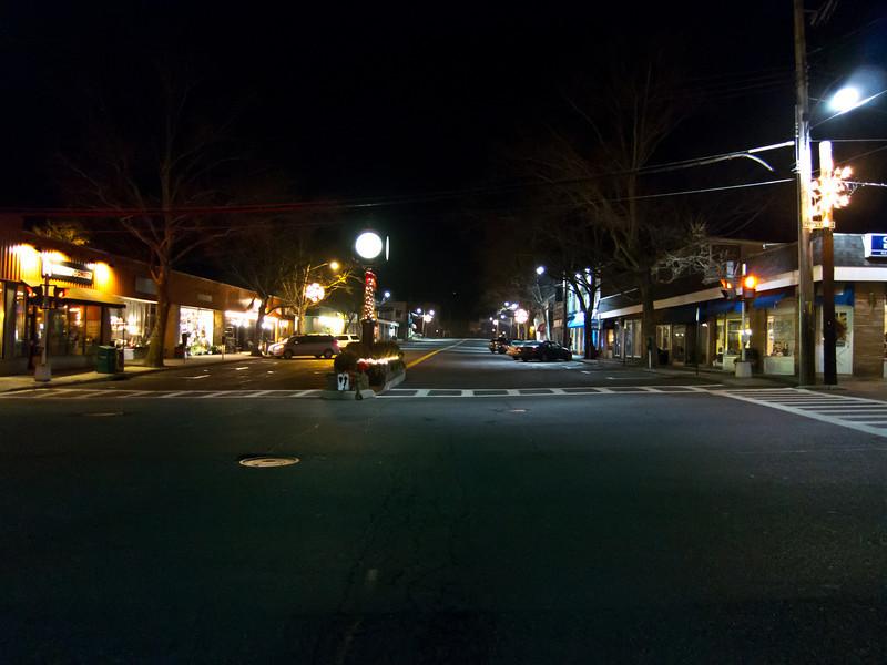 Pleasantville Street Scene Outside Jacob Burns Film Center  - December 30, 2011