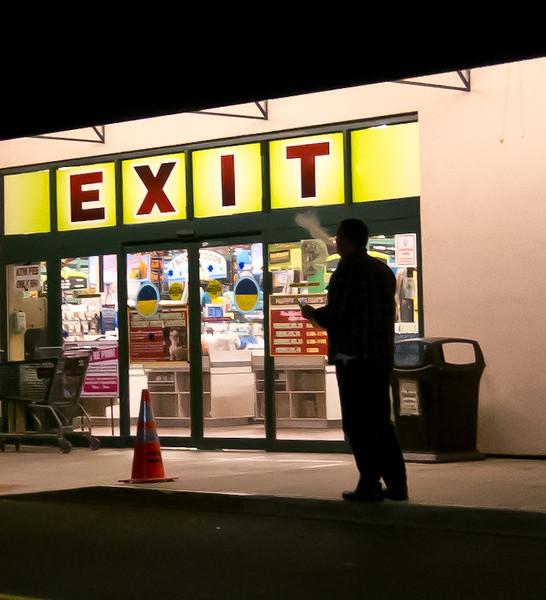 Exit from Fairway Market, Stamford, CT