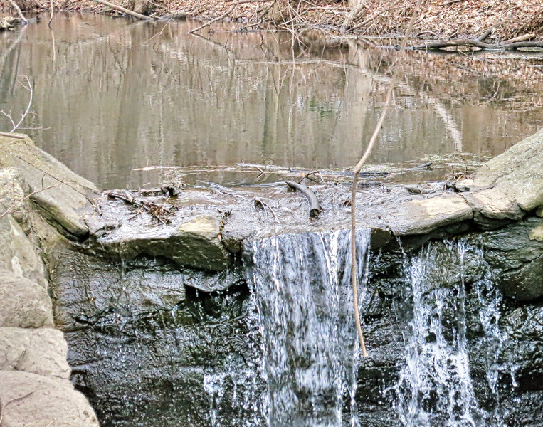 Dam and outlet of pond