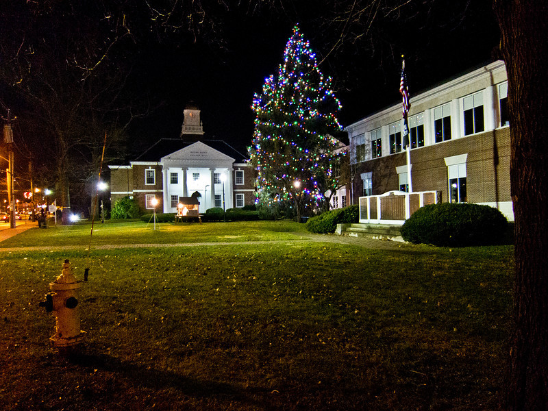 Mt Kisco Library and Village Hall on New Year's Eve