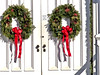 Bedford Presbyterian Church Christmas Wreaths - Closeup