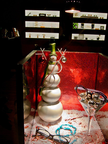 Pleasantville optometrist's  Chrismas Window Display - December 30, 2011
