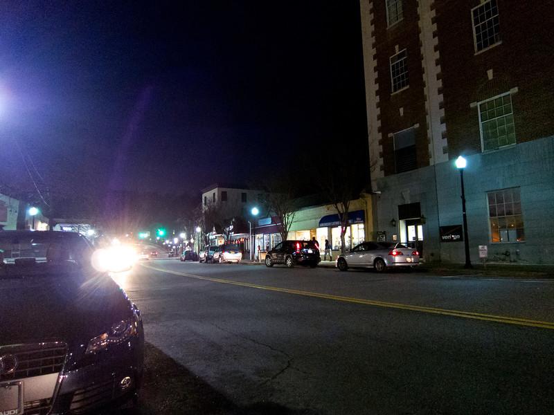 Downtown Main Street, Mt Kisco, NY on New Year's Eve