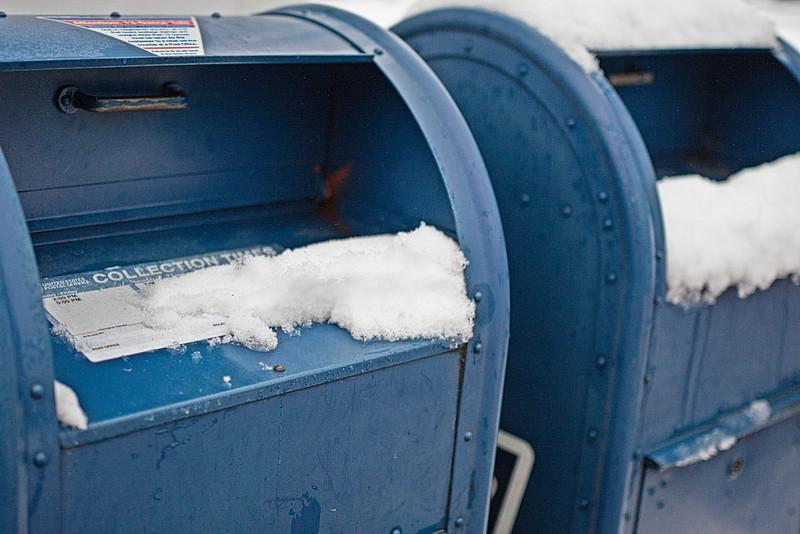 Bedford Village mailboxes