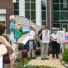 Anti-fracking rally in front of Mt Kisco Village Hall, August 2012