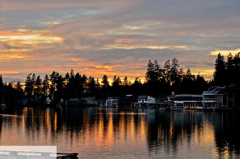 Oswego Lake at sunset
