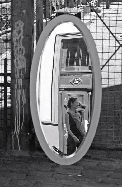 Mirror 2. Streetmarket in Nansensgade, Copenhagen. Summer 2008.
