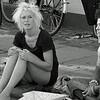 Sisters. Streetmarket in Nansensgade, Copenhagen. Summer 2008.