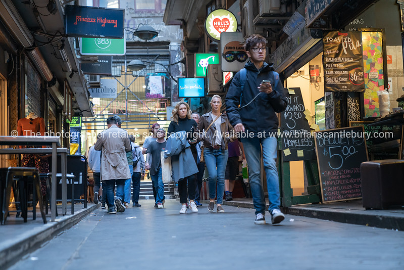 People in Degraves Street Melbourne.