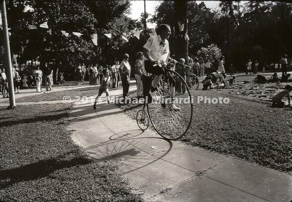 Old Bike Tampa 1976 B&W