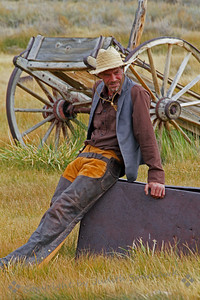 Cowboy and a Wagon ~ Photographed at Bodie, California.