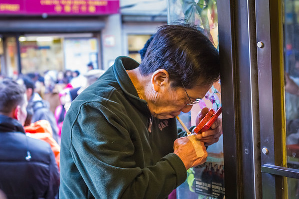 One of my absolute favorite moments was catching the owner of Ho Yuen Bakery lighting a cigarette while holding several packs of fireworks in the other hand. Yikes.