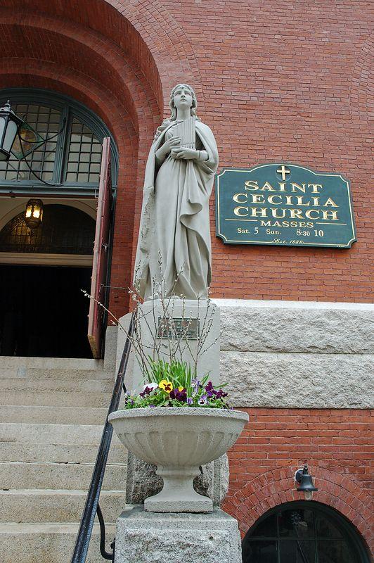 Belvidere Str.<br/> Saint Cecilia Church.<br/> Style: Romanesque Revival