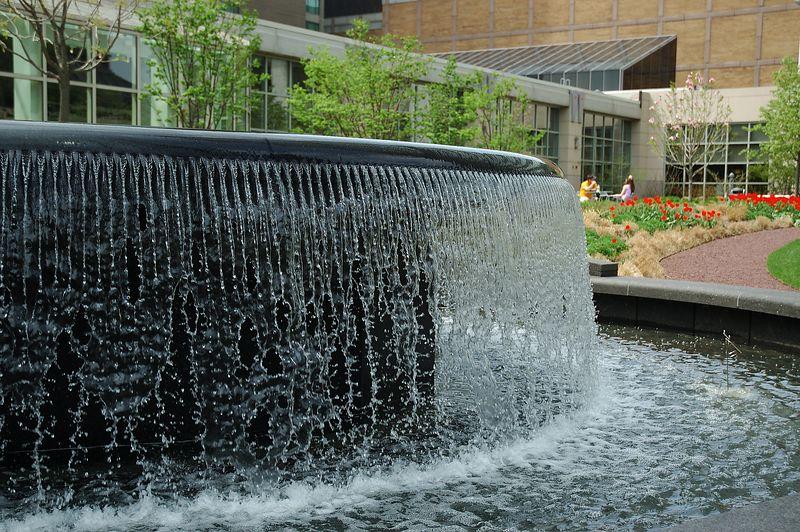Prudential Garden<br/> Granite Fountain.