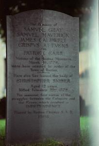 Tombstone of Boston Massacre victims