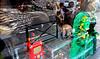 Robot Porcupine Skull Snake skeleton - Brussels street photography
