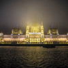 Parliament in the fog.