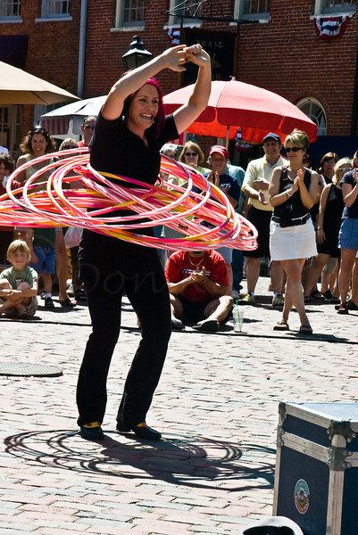 How many Hula Hoops can she do at once?-Newbury Port
