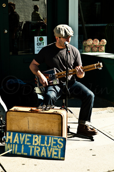 Have Blues Will Travel, with a cigar box Guitar!<br /> Mississippi Jon Short performing.