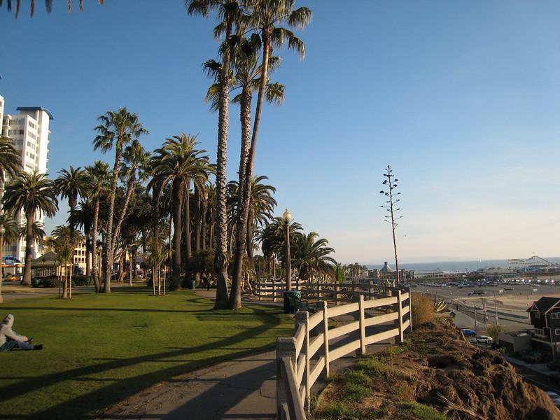 Sunny Santa Monica beach, on January 6.