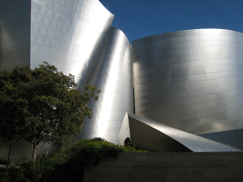 Frank Gehry's Walt Disney Concert Hall in downtown Los Angeles.