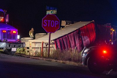 Grain Truck Tipped Over