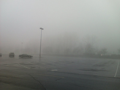 Foggy Tukwila morning near work
