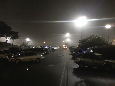 Foggy Tukwila night at work