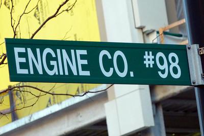 Engine 98 Sign