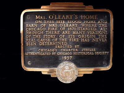 Mrs O'Leary Plaque