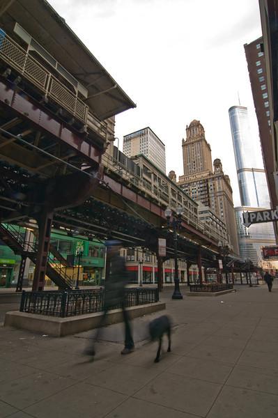 "Under the ""L"" Chicago."