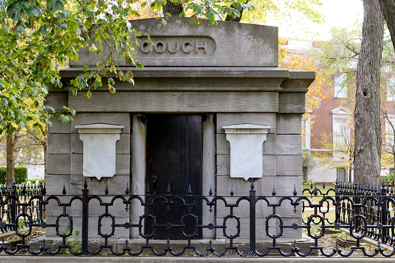The Couch monument is the only grave left in Lincoln Park. It is also the oldest structure to survive the Great Chicago Fire in 1871.