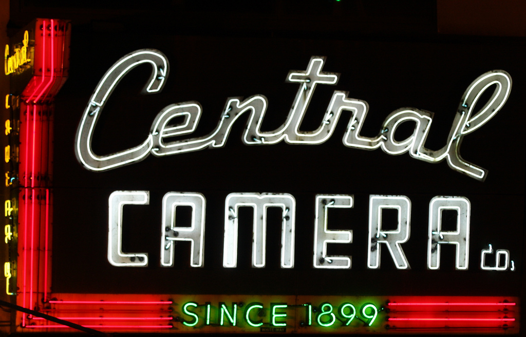 Central Camera is the oldest camera store in Chicago. It was established in 1899 and is still owned and operated by the same family.