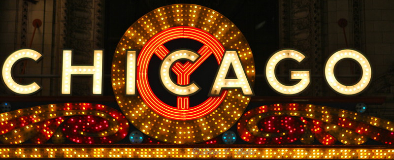 The famous Chicago Theater sign.