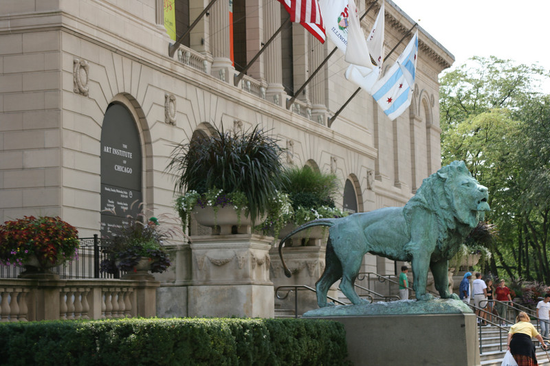 The Lions outside of the Art Institute of Chicago - Chicago IL