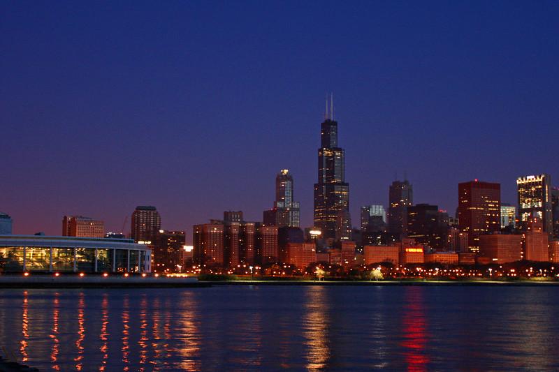 Skyline before Dawn - Chicago IL