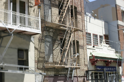 Fire Escape, Chinatown, San Francisco, June 2008