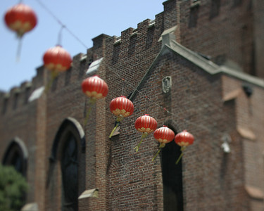 Red Lanterns, Old St. Mary's, Chinatown, San Francisco, July 2008
