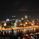 City Lights : night photos of downtown Pittsburgh from Mt Washington
