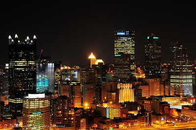 Pittsburgh at night from Mt Washington