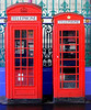 Telephone boxes, Spitalfields, London